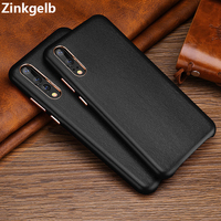 For Huawei P20 Pro Case Cover Luxury Cute Slim Genuine Leather Protection Armor Phone Case for Huawei P20 Back Cover Capa Funda