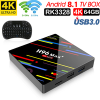 H96 MAX Plus Android 8,1 smart TV Box 4 GB RAM 64 GB ROM Set Top Box RK3328 2,4 g/5G Wifi 4 K H.265 4 GB 32 GB Media Player