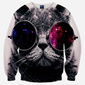 Moda impresso panda/cat/tigre camisola das mulheres/homens animal engraçado 3d camisolas harajuku hoodies top plus size