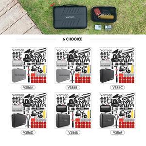 Image 2 - Vamson dla Gopro Hero 8 7 6 5 4 czarny dla Xiaomi Yi 4K Lite dla DJI OSMO kamera akcji wodoodporna obudowa torba dla SJCAM Eken VS86