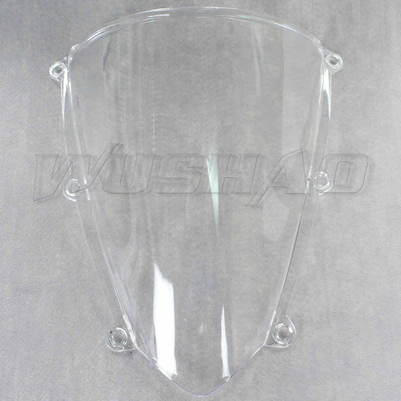 Motorcycle Double Bubble Windshield WindScreen Screen For 2007 2008 2009 2010 2011 2012 Honda CBR600RR F5 CBR 600 RR Black