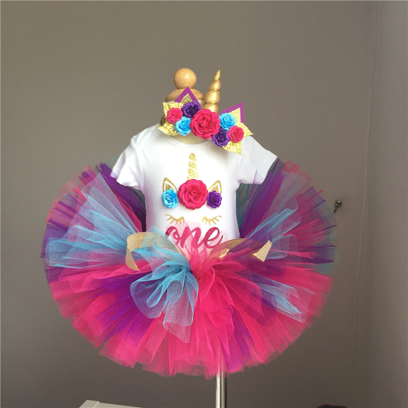 My Princess Unicorn Dress For Girls 1 Year Girl Baby Birthday Dress Cake Smash Outfits Dress Unicorn Newborn Baby Girl Clothes