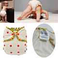 Natural cloth nappies diapers bamboo reusable aio cloth diapers one size fits all (Nb to 35lbs+)