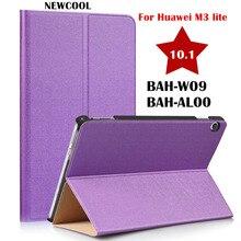 """M3 inteligente Flip Cover Funda de Cuero Para Huawei MediaPad 10 Lite 10.1 10.0 BAH-W09 BAH-AL00 10.1 """"Caja de la Tableta Protectora bolsa CY"""