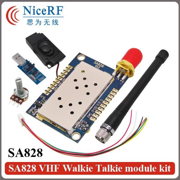 2PCS Lot SA828 5KM Long Distance 1W 30dBm RF Audio Transmitter Module 134 174MHz VHF Band
