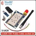 2 unids 5 km distancia 1 W rf SA828 audio módulo transmisor 134-174 MHz VHF banda walky talky