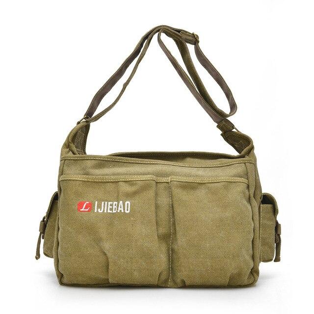ZHIERNA Men Vintage Shoulder Bag Canvas Casual Messenger Bag Business Mochila Crossbody Bag Retro Man Sacoche business briefcase