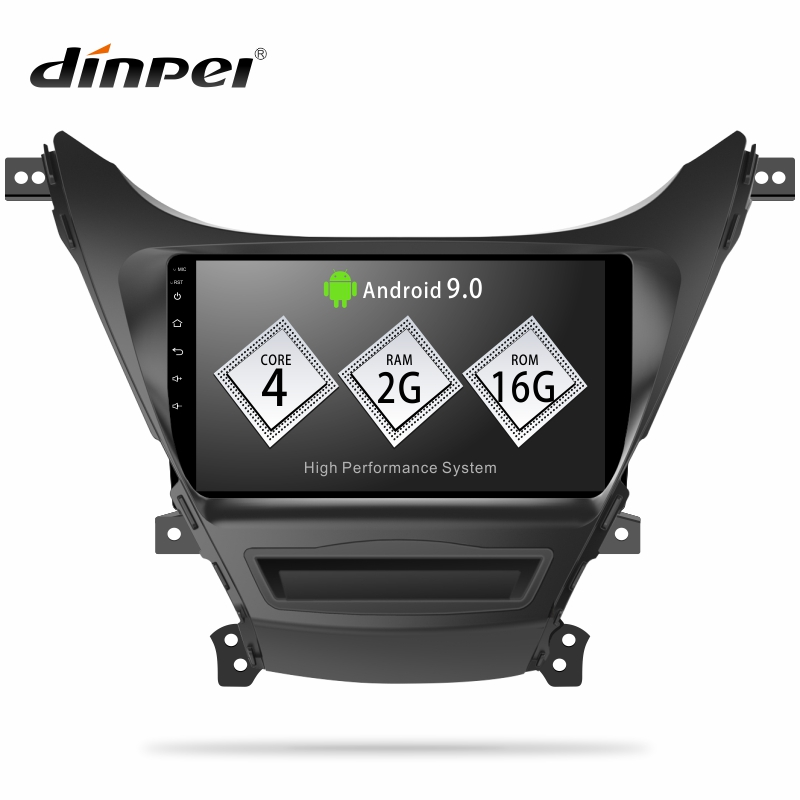 Dinpei Android 9 0 Car Radio Multimedia Video Player Navigation GPS For Hyundai Elantra MD 2010