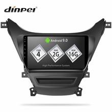 Dinpei Android 9,0 автомобильный Радио Мультимедиа Видео плеер навигация gps для Hyundai Elantra MD 2010-2016 MP5 wifi стерео Нет 2 din