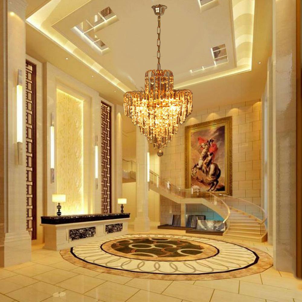 Yonntech Crystal Chandelier Light Waterfall Ceiling Lamp Lighting Luxury Lustres Artistic Lamp