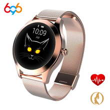 696 KW10 Women Smart Bracelet Band Bluetooth Heart Rate Monitor Fitness Tracker Smartwatch