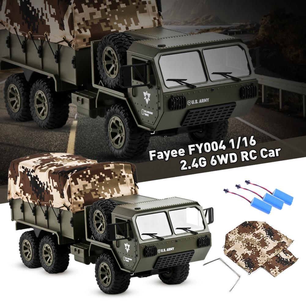 1/16 2.4G 6WD RC camion militaire voiture roche chenille RTR véhicule chenille avec tente Auto armée camions garçon jouets