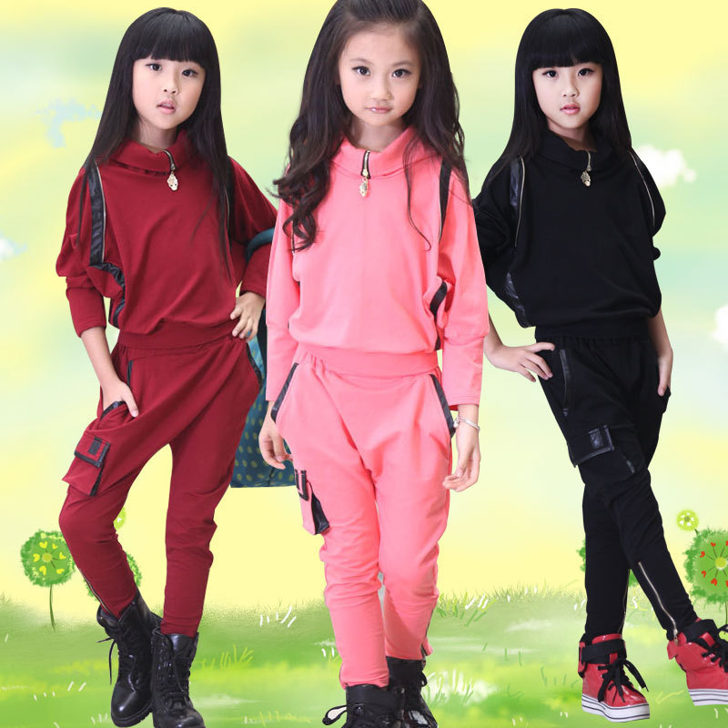 newest dab8a 33af9 Girls Sweat Suits 2015 Cotton Batwing Sleeve Korean Kids Clothes Fashion  Kids Girls Tracksuit Casual Girls Winter Clothing Set