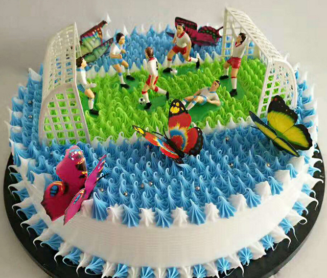 8pcsset Soccer Football Cake Topper Player Decoration Tool Birthday
