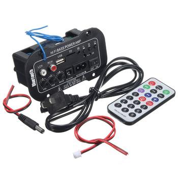 Hot 1 zestaw samochodowy Bluetooth wzmacniacz HiFi bas wzmacniacz mocy Stereo wzmacniacz cyfrowy USB TF pilot do samochodu akcesoria do domu tanie i dobre opinie AZDOME 190g plastic Black 100x45x40mm