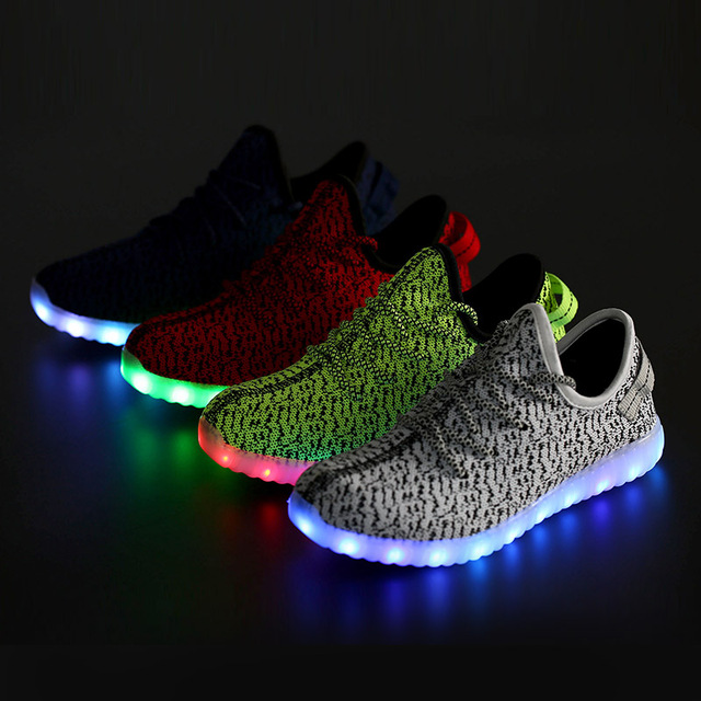 free shipping 491b4 cff65 US $27.49 45% OFF|Männer erwachsene Führte Leucht Schuhe 2016 Top qualität  Led leuchten USB lade Bunte Schuhe Liebhaber turnschuhe Schuhe freies ...