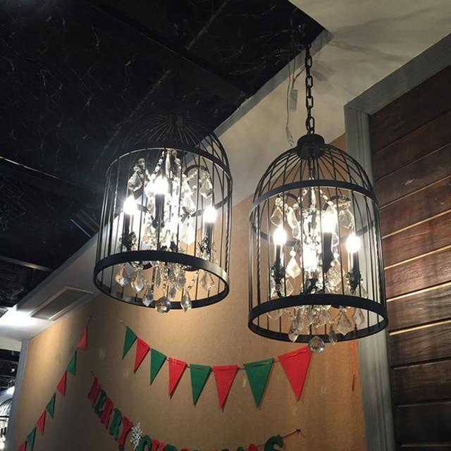 Nero birdcage lampadario lampadari sala da pranzo illuminazione ...