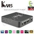 KM5 TV Box Quad Core Amlogic S905X Android 6.0 Set Top Box 2.4G WiFi VP9 H.265 Decoding Media Player 1G/8G KODi 17.0 IPTV Box TV