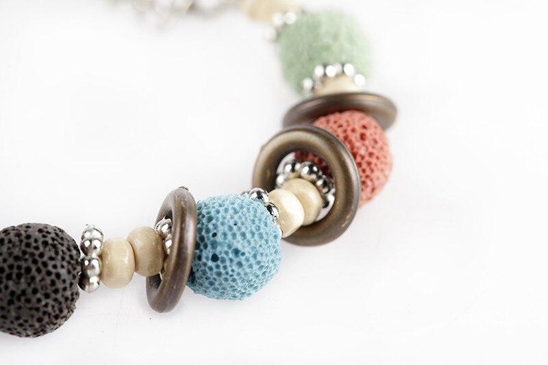 17 Lava Stone Beads Bracelet Beautiful Bangles Bracelets For Women Nature Stone Bracelet Strand Women Bracelets Jewelry Women 15
