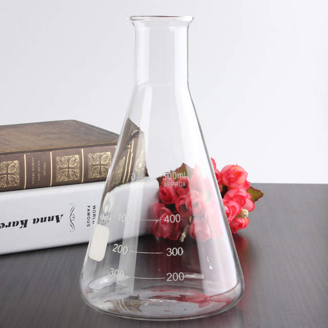 500ml Glass Erlenmeyer Flask Groud Joints 24/29 Laboratory Triangle Flasks