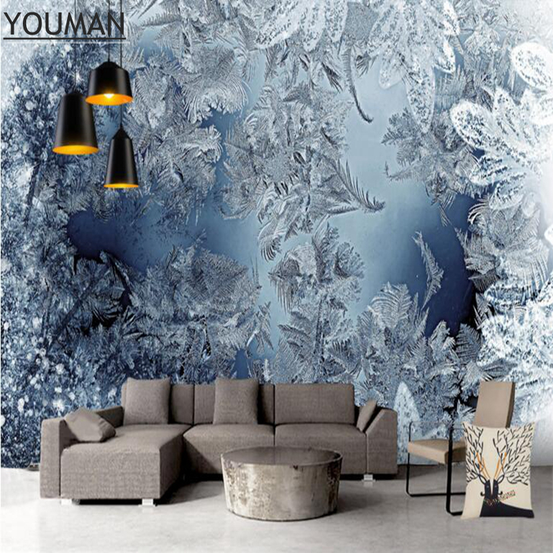 Free Desktop Wallpaper Modern Wall Decor Blue And White Wallpaper Minimalist Texture 3d Winter Snow Bedroom Wall Art Restaurant Textures 3d Free Desktop Wallpaperdesktop Wallpaper Modern Aliexpress