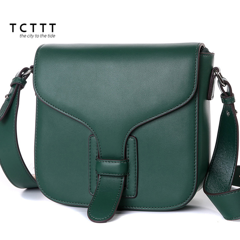 TCTTT 2018 New style woman Crossbody bag Cowskin leather luxury handbags women bags designer Fashion small ladies Messenger bags women new handbags strap leather fashion red buckle crossbody bag straps new wide belt bags parts replacement classic style