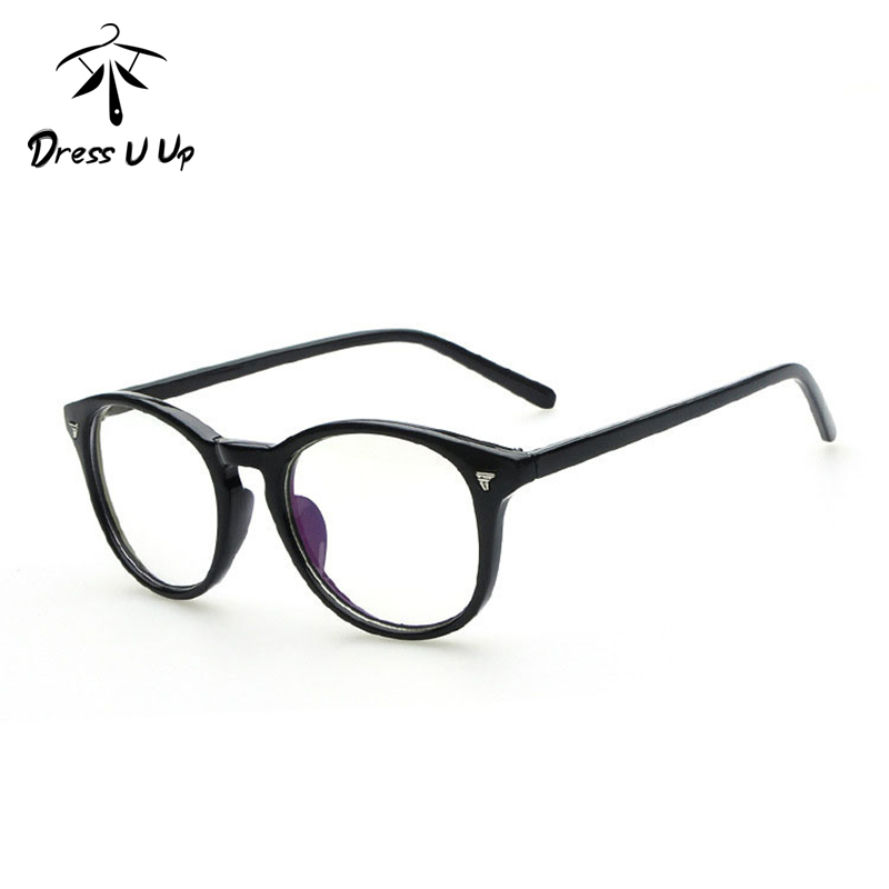 DRESSUUP Gradient Color Fashion Frame Glasses Women Round Classic ...