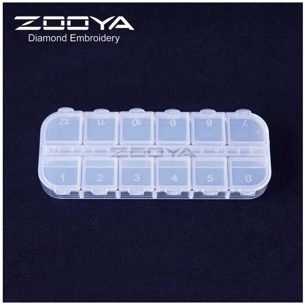 Image 5 - ZOOYA Diamond Painting Tools Accessory Beads Container Diamond Embroidery Stone Storage Box for jewelry Mosaic Convenience T006-in DIY Craft Storage from Home & Garden