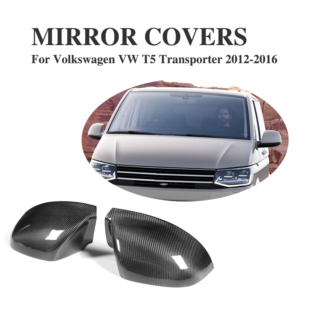 Carbon Fiber Add on Style rearview mirror covers trims for Volkswagen VW T5 Transporter 2012-2016 2PCS/Set