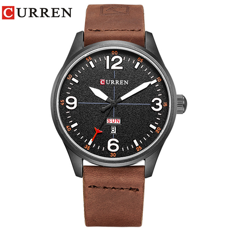 NEW 2019 Curren Men's Sports Quartz Watches Mens Watches Top Brand Luxury Leather date week Wristwatches Relogio Masculino 8265 relogio masculino original curren wristwatches mens watches top brand luxury silicone sports watches military army waterproof