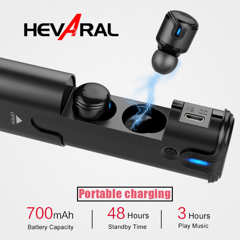 HEVARAL TWS True Wireless Bluetooth Earphone Touch Control In-Ear Stereo HIFI Earbuds Headset With Mic For iphone For Xiaomi bgreen t02 tws bluetooth earphone true wireless stereo headset in ear earbuds