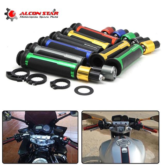 """Alconstar-7/8 """"22mm Rua Universal & Racing CNC Alumínio para Barracuda Barra do Punho Da Motocicleta Tampas/Guiador tenazes Para Honda"""