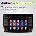 """7 """"Android 4.4.4 Quad Core GPS Carro DVD Unidade de Cabeça de Rádio Para Fiat Bravo (2007 ~ 2012) # J-2456"""