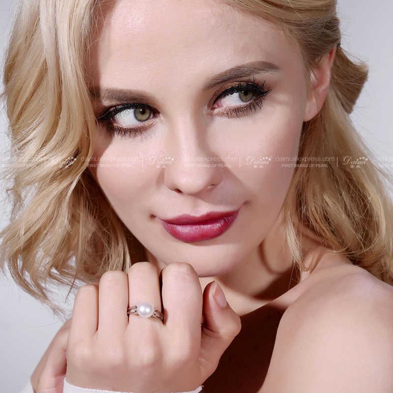 DMRFP066 9-10mm duży biały szary realne pierścionek z perłą pełne rozmiary hurtownia superproste elegancki pierścionek