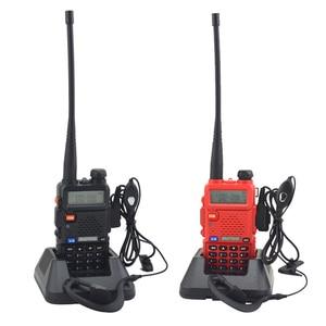 Image 2 - Baofeng walkie talkie uv 5r dualband hai cách phát thanh VHF/UHF 136 174 MHz & 400 520 MHz FM Thu Phát Cầm Tay với tai nghe