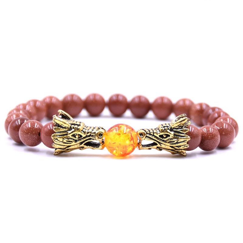 Bracelets & Bangles Vintage Charm Bracelets Bangles Women 14 Color Selection Natural Stone Ssangyong Play Bead Bead Bracelet Men Jewelry