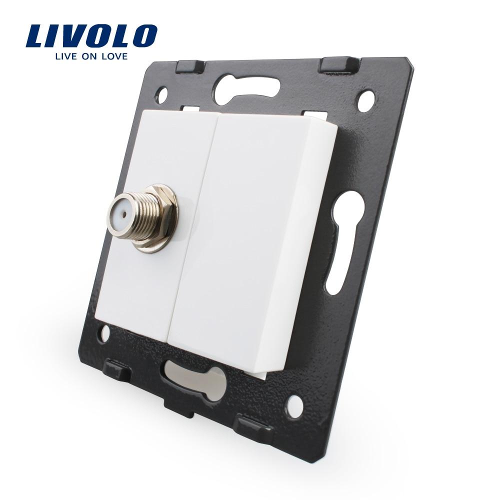 Livraison gratuite, Livolo blanc matières plastiques, norme EU, touche de fonction pour prise TV Satellite, VL-C7-1ST-11 (4 couleurs)