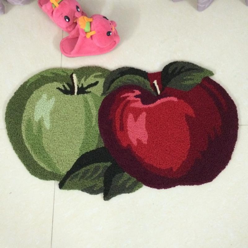 Apple Shaped Anti Slip Area Rug Bathroom Carpet Kitchen
