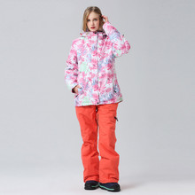 Professional Winter Ski Suit Women Skiing Coat Snowboarding Sets Snowboard Jacket and Pants Outdoor Hiking Suits