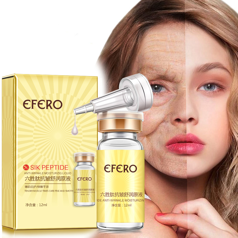 efero Argireline Essence Collagen Six Peptides Anti Wrinkle Serum for Face Cream Whitening Firming Skin Care Instantly Ageless 1