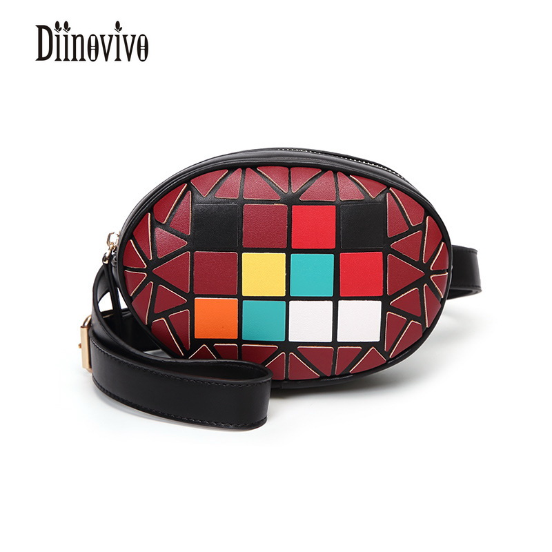 DIINOVIVO Fashion Geometric Panelled Female Belt PU Leather Waist Bag Star  Style Travel Belt Trendy Casual New Small Bag DNV0343 bd5fcefd19cfc