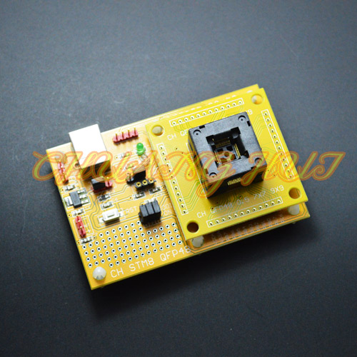 IC TEST Open Top QFP48 STM8 STM8S STM8A LQFP48 TQFP48 Core board Download seat test socket Programmer adapter 0.5mm pitch
