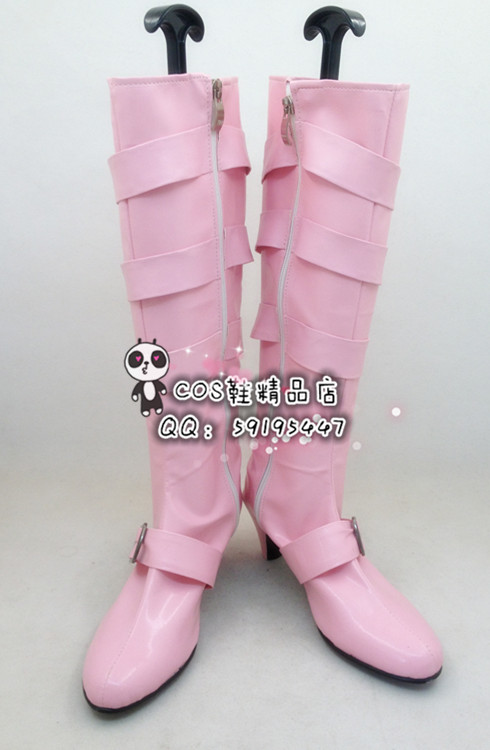 The King Of Fighters KOF Shermie Pink Long Halloween Cosplay Shoes Boots X002 ...