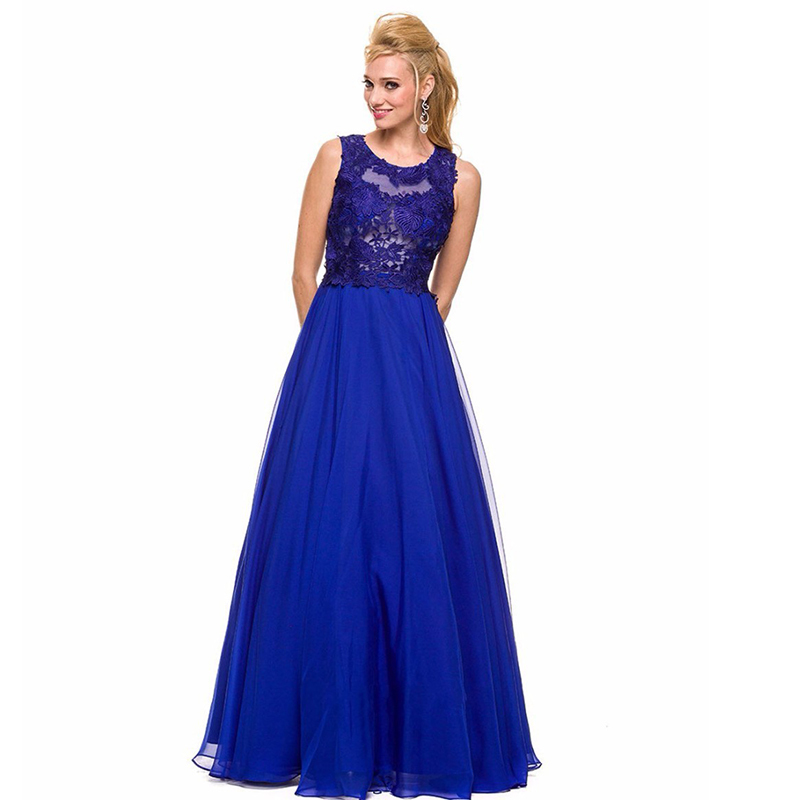 Blue Plus Size Prom Dresses