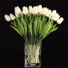 20 шт. цветок тюльпана латексный настоящий сенсорный для свадьбы Dcor цветок лучшее качество KC451