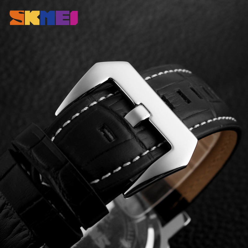 SKMEI Män Armbandsur Fashion Casual Big Dial Quartz Stainless Steel - Herrklockor - Foto 3