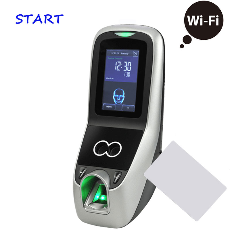 ZK Iface 7 Multibio700 WiFi Biometric Face & Fingerprint Time Attendance 13.56Mhz MF/IC Card Face Door Access Controller