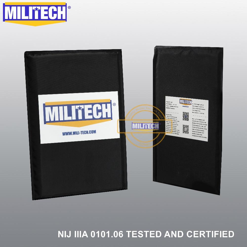 MILITECH Aramid Ballistic Panel Bullet Proof Plate Inserts Body Armor Soft Side Armour Panel NIJ Level