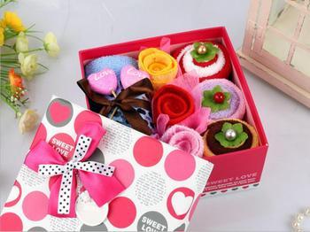 Kreatywny 20x20 cm piękny śliczne 11 sztuk/zestaw pudełko ciasto kształt ręcznik promocji prezent na ślub urodziny party decor