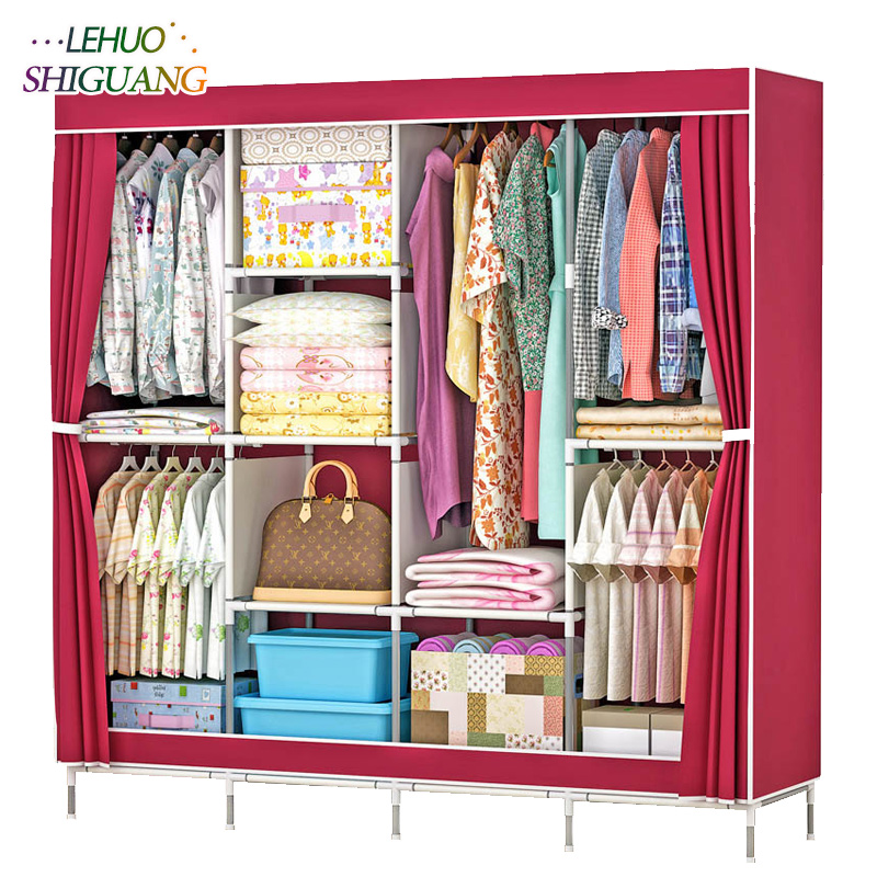 Fashion Non-woven fabric family wardrobe Standing Storage Organizer closet cabinet Home bedroom Furniture High foot Shelf fashion home furniture bedroom non woven fabric family wardrobe standing storage organizer closet cabinet high foot shelf